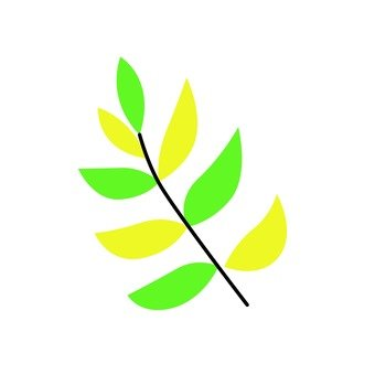 Scandinavy leaves (green · yellow)