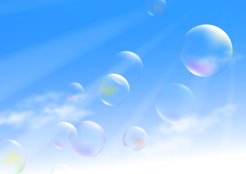 Sky and soap bubbles