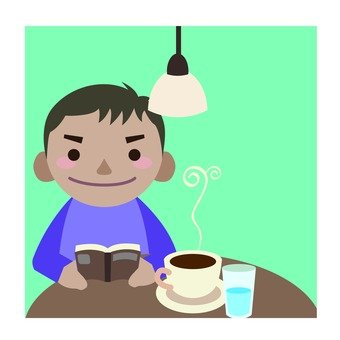 Cafe · Reading male