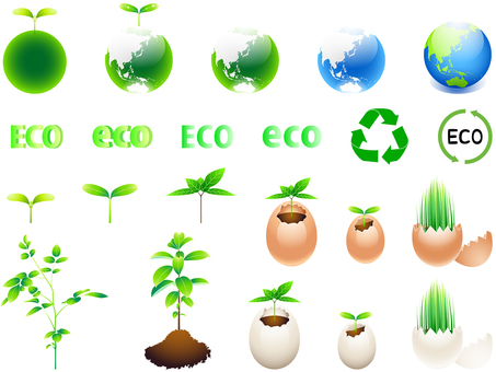 ai Earth · logo icon · eco-set of sprouts