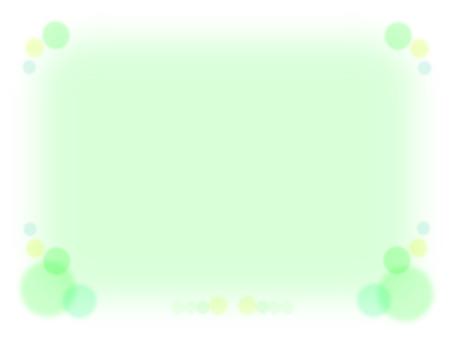 Frame frame material of green spot motif · green line