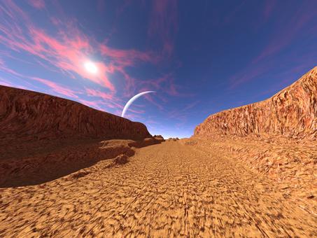 砂の惑星の崖谷