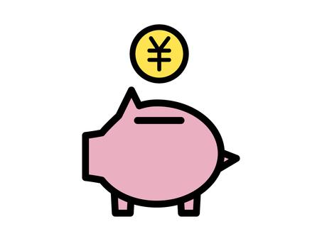 Simple pig money box