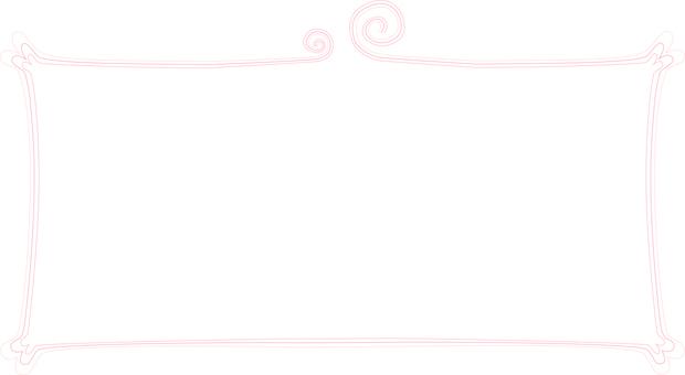 Decorative frame pink