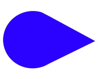矢印 カーソル 青05
