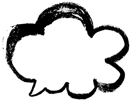 "Brush character ""borderline speech cloud"""