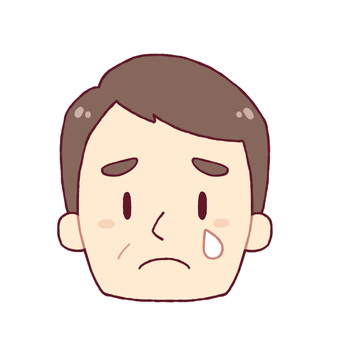 Facial expression - crying (middle-aged man)