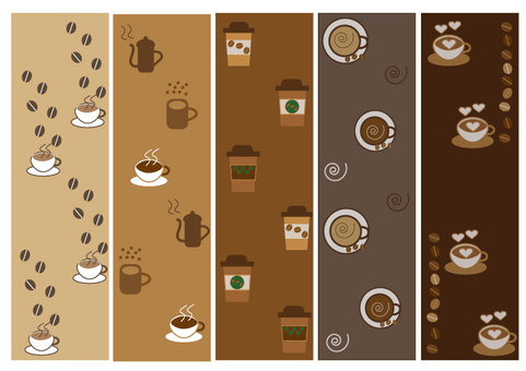 Coffee and cafe pattern set