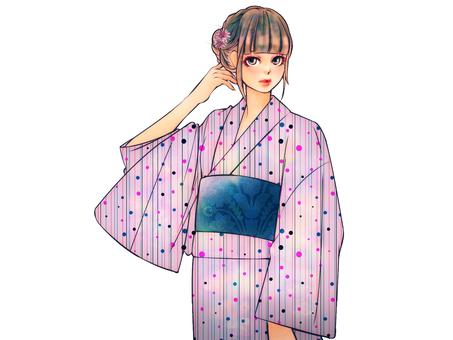 Yukata girl who has been a favor