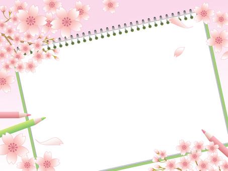 80219.桜とスケッチブック1