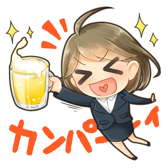 A woman toasting _ 1