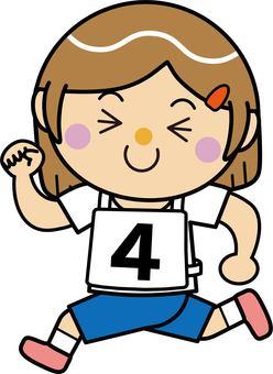 Girl 16_08 (running · number 4)