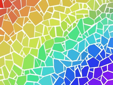 Rainbow Mosaic Origami Paste