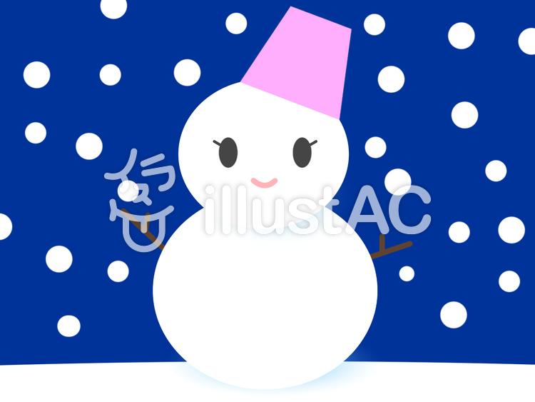雪だるま02のイラスト