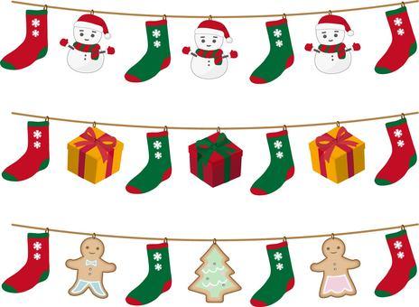 Socks garland christmas