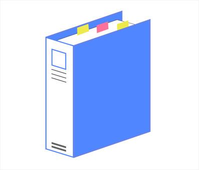 Binder file blue