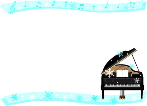 Winter piano card