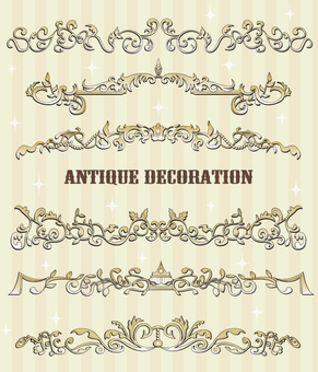 Antique style decorative line