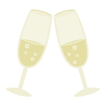 A toast with champagne glass