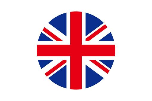 British flag circle icon