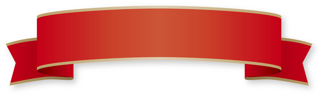 Simple ribbon - red