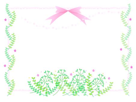 春天的花朵框架