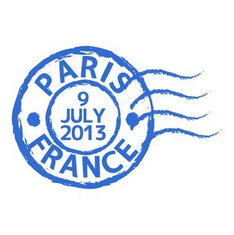 Postmark of Paris