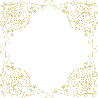 Antique style decorative frame gold