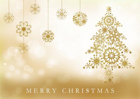 Christmas tree _ gold texture 2218