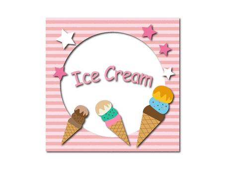 Ice cream illustration material