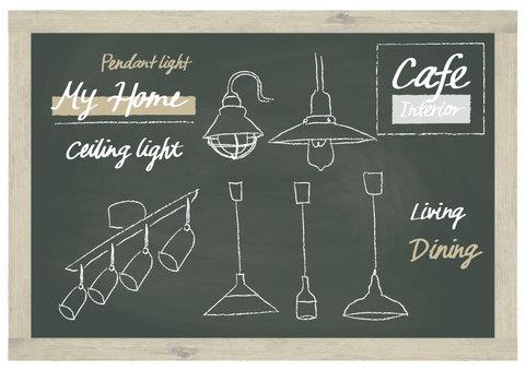 Lighting handwriting set blackboard