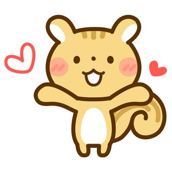 다람쥐 _ 하트