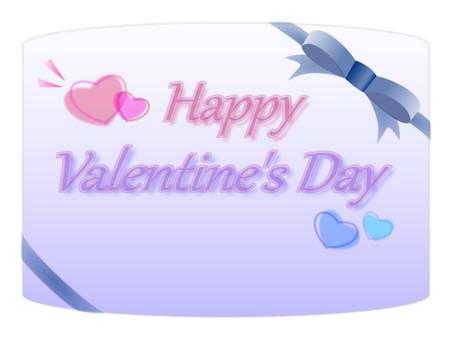 Valentine card blue series