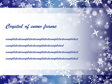 Snow crystal frame ver 01