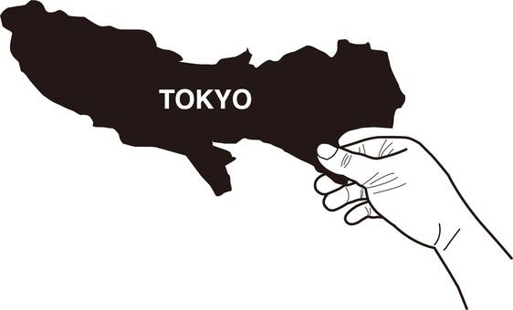 도쿄도의지도 ☆지도를 손가락으로 집는 TOKYO