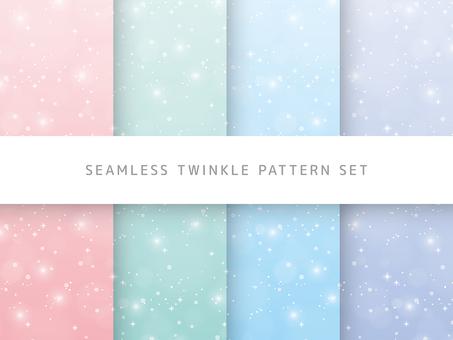 Pastel glitter pattern set