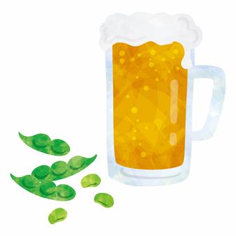 Beer edamame