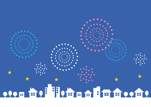 Cityscape Frame Firework 02