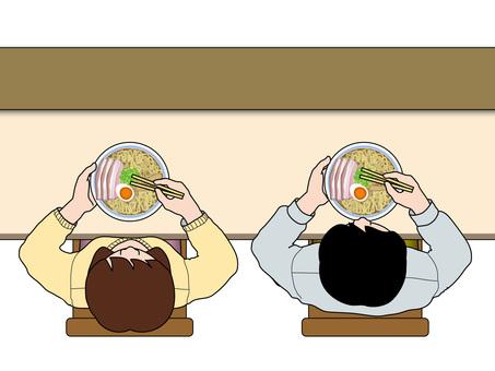 Meals (19) Ramen sex at the counter