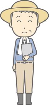 Middle-aged farmer man - File Nico Nico - whole body