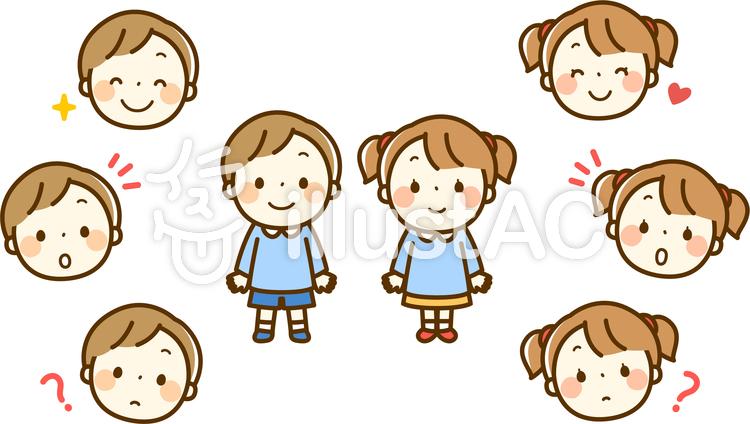 幼稚園児の男の子と女の子イラスト No 8639 無料イラストなら イラストac