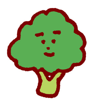 Broccoli with face