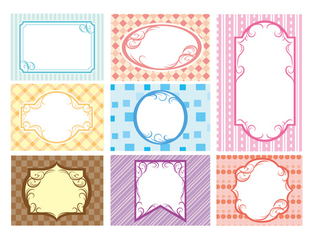 Various decorative frame frames