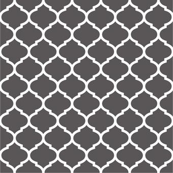 Seamless Moroccan pattern (gray)