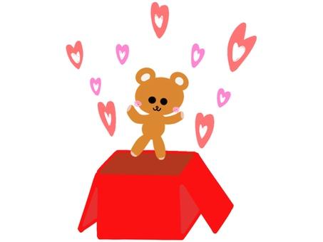 Bear surprise box