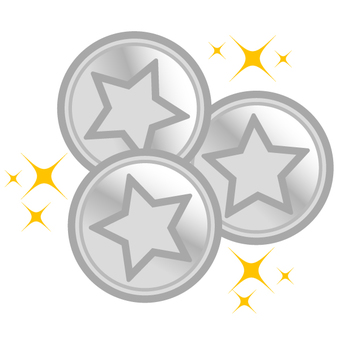 Shine ☆ Coins (silver · multiple