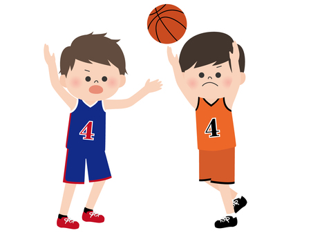 People material <Boy who play basketball>