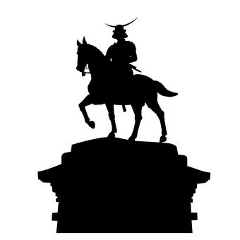 Date Masamune bronze statue