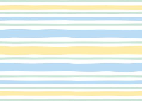 Stripe horizontal blue & yellow