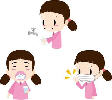 Hygiene management (girl)